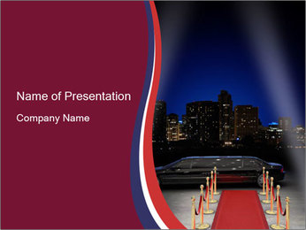 Limousine and Red Carpet PowerPoint Template