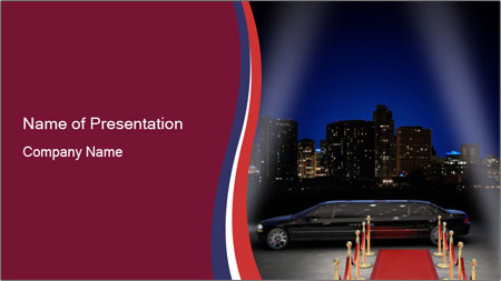 limousine and red carpet powerpoint template backgrounds google