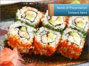 Traditional Japan California Rolls PowerPoint Templates