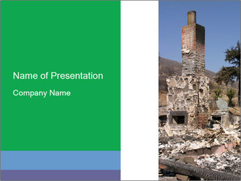 Burned House in Santiago PowerPoint Template
