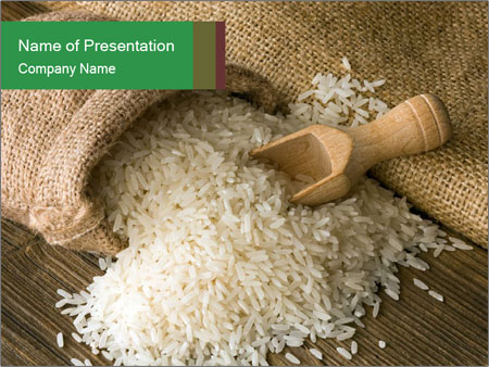 Indian white basmati rice in sack powerpoint template backgrounds indian white basmati rice in sack powerpoint template toneelgroepblik