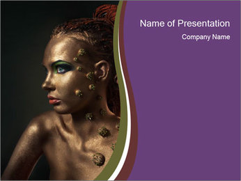 Female Body Art PowerPoint Template