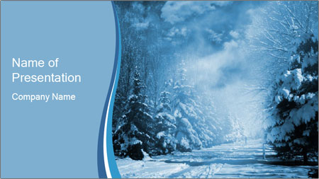 Forest Covered In Snow Powerpoint Template Backgrounds Google