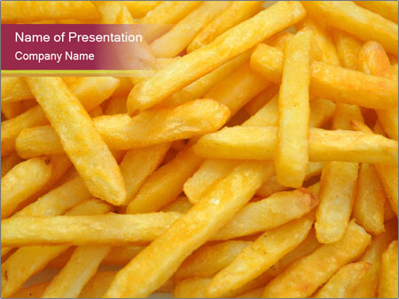 Takeaway French Fries Powerpoint Template Backgrounds Google