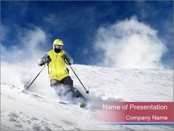 Breathtaking Ski Jump PowerPoint Template