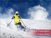 Breathtaking Ski Jump PowerPoint Templates