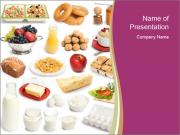 Breakfast Food Collage PowerPoint Templates