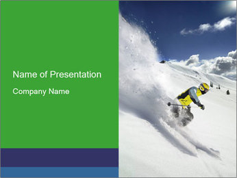 Ski Competition PowerPoint Template