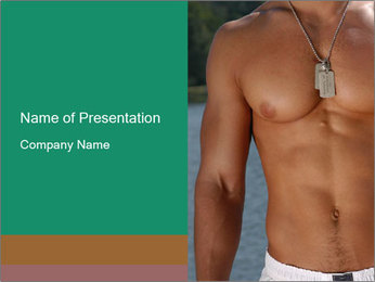 Athletic Male Body PowerPoint Template