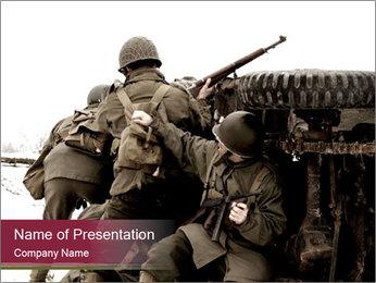 World War II American Soldier PowerPoint Template