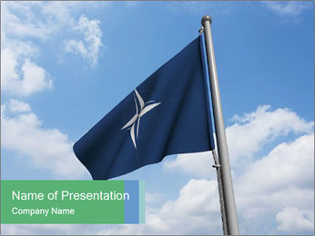 Waving NATO Flag PowerPoint Template