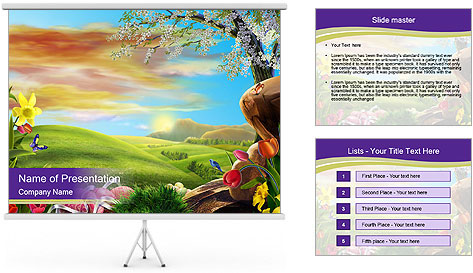 Oil painting masterpiece powerpoint template backgrounds for Oil painting templates