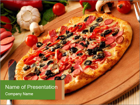 Italian Homemade Pizza Powerpoint Template Backgrounds Id