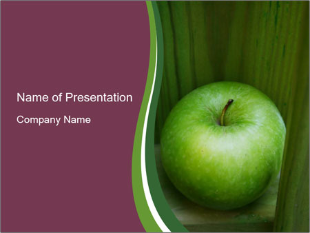 Organic Green Apple PowerPoint Template