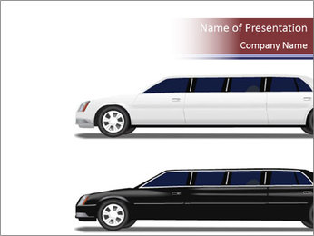 Black and White Limo PowerPoint Template
