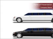Black and White Limo PowerPoint Templates