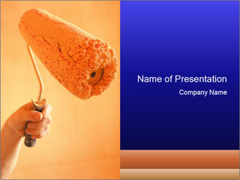 Roller for Painting Walls PowerPoint Template