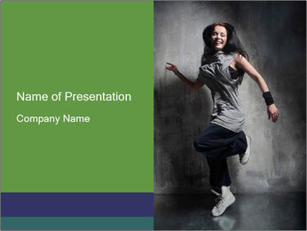 Female Freestyle Dancer PowerPoint Template