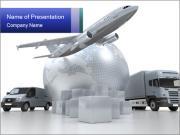 Modern Transport Sjablonen PowerPoint presentatie