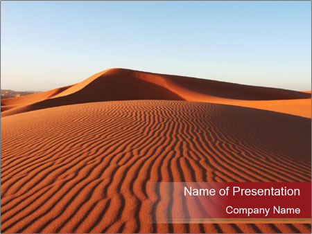 desert in morocco powerpoint template amp backgrounds id