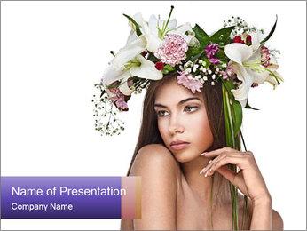 Creative Floral Garland Modèles des présentations  PowerPoint