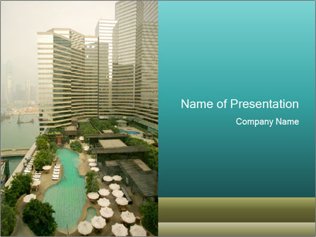 Impressive View From Hotel In Hong Kong Powerpoint Template