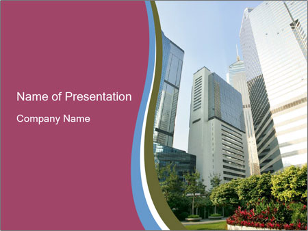 Skyscrapers In Hong Kong Powerpoint Template Backgrounds Google