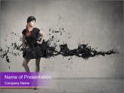 Молодые модели в творческих черном платье Шаблоны презентаций PowerPoint