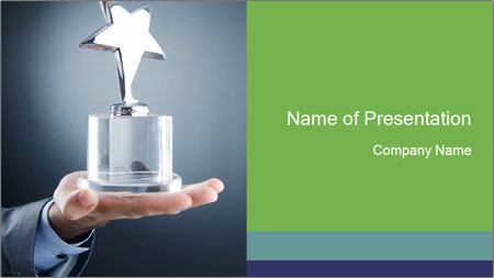 star award for winners powerpoint template backgrounds google