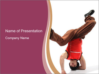 Talented Freestyle Dancer PowerPoint Template