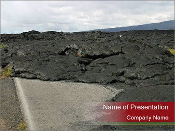 Lava on the Road PowerPoint Template