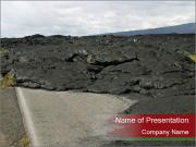 Lava on the Road PowerPoint Templates