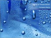 水滴 PowerPointプレゼンテーションのテンプレート