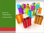 Colourful Shopping Bags PowerPoint Templates