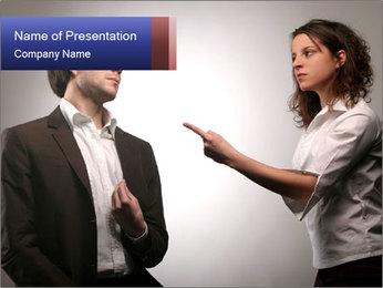 Couple Quarreling PowerPoint Template