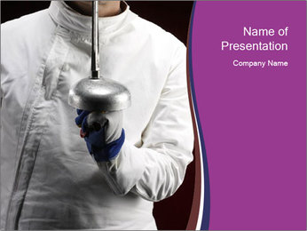 Professional Fencing Tournament PowerPoint Template