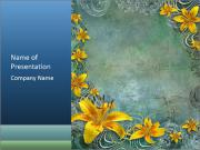 Frame of Yellow Flowers PowerPoint Templates