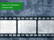 Film Negative on Grey Background PowerPoint Templates