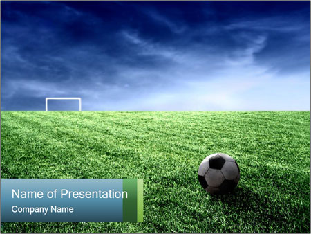 Huge Soccer Stadium Powerpoint Template Backgrounds Id 0000018735