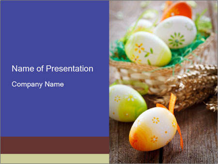 Painted Eggs For Easter Powerpoint Template  Backgrounds Id