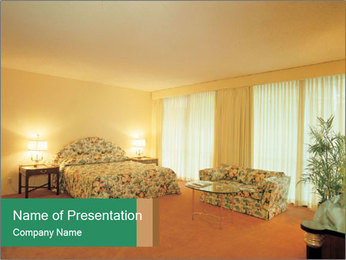 King Size Hotel Room PowerPoint Template