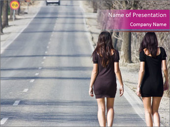 Two Prostitutes on the Road PowerPoint Template
