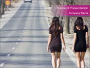 Two Prostitutes on the Road PowerPoint Templates