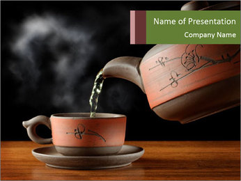 Asian Tea Ceremony PowerPoint Template
