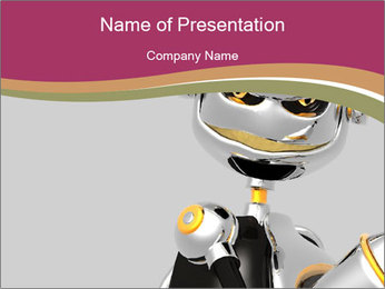 Cybord Metal Robot PowerPoint Template