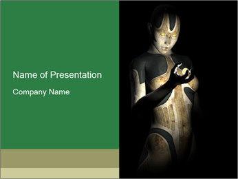 Female Model Robot PowerPoint Template