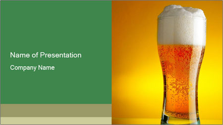 frosty glass of beer powerpoint template backgrounds google