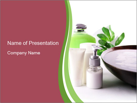 Lotion powerpoint template smiletemplates amotamerapy cosmetics powerpoint templates toneelgroepblik Images