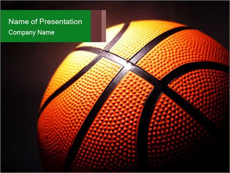 Macro Illustration Of Basketball PowerPoint Templates