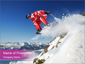 Snowboard Freestyler PowerPoint Template
